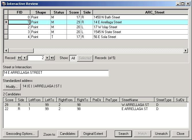 Lab 3: Geocoding - Matching addresses with locations